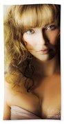 Beautiful Fashion Model Beach Towel by Jorgo Photography - Wall Art Gallery
