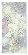Beautiful Flower Sketch  Beach Towel