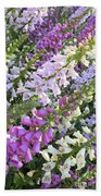 Beautiful Foxglove Beach Towel