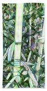 Beautiful Green Leaf Bamboo Beach Towel