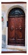Viaje Beautiful Italian Door Volterre  Beach Towel