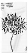 Beautiful Lotus... Black-white Mood Beach Towel