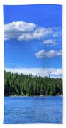 Beautiful Luby Bay On Priest Lake Beach Towel
