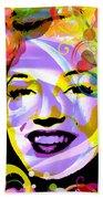 Beautiful Marilyn Monroe Beach Towel