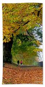 Beautiful Morning Walk In Autumn Beach Towel