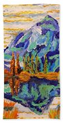 Beautiful Mountainous Reflection  Beach Towel