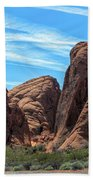 Beautiful Nature Landscape Valley Of Fire  Beach Towel
