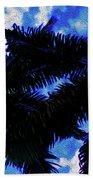 Beautiful Palm In Blue Sky Beach Towel