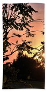 Beautiful Park Sunset View Trees Beach Towel