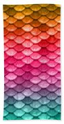 Beautiful Pastel Diagonal Rainbow Spectrum II Mermaid Fish Scales Beach Towel