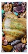 Beautiful Polished Colorful Stones Beach Towel