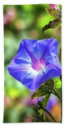 Beautiful Railroad Vine Flower Beach Towel