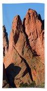 Beautiful Sandstone Spires In Garden Of The Gods Park Beach Towel