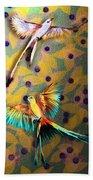 Beautiful Scissor-tailed Flycatchers Beach Towel