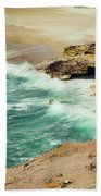 Beautiful Shore Of Nazare, Portugal Beach Towel