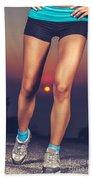 Beautiful Sportive Womens Legs Beach Sheet