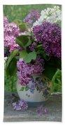 Beautiful Spring Flowers In A Vase Beach Towel