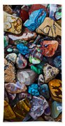 Beautiful Stones Beach Towel by Garry Gay