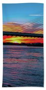 Beautiful Sunset Under The Bridge Beach Towel