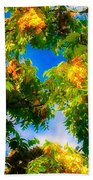 Beautiful Tree Tops In Sky Beach Sheet