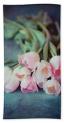 Beautiful Tulips Beach Sheet