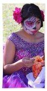 Beautiful Woman Day Of Dead IIi Beach Sheet