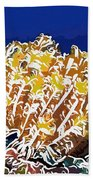 Beautiful Yellow Coral 1 Beach Towel by Lanjee Chee