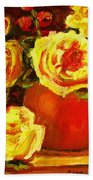 Beautiful Yellow Roses Beach Towel