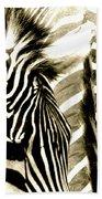 Beautiful Zebras Beach Towel