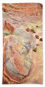 Beautifully Colored Boulders In Wash 3 - Valley Of Fire Beach Towel