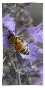 Beauty And The Bee Beach Towel