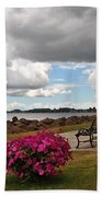 Beauty And The Bench Beach Towel