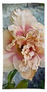 Beauty And The Boulder - Daylily Beach Towel