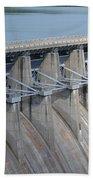 Beaver Dam Spillway Gates Beach Towel
