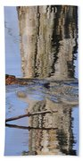 Beaver In Motion Beach Towel