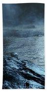 Beaver's Bend Fog Fishing Beach Towel