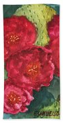 Beavertail Cactus Beach Towel
