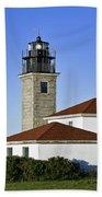 Beavertail Lighthouse Rhode Island Beach Towel
