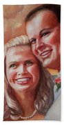 Becky And Chris Beach Towel