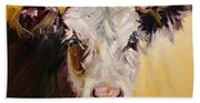 Bed Head Cow Beach Towel