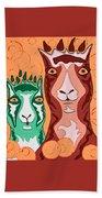 Bedazzled Llamas Beach Sheet