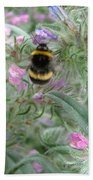 Bee And Flower Beach Towel
