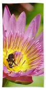 Bee And The Lily Beach Towel