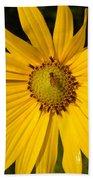Bee And Yellow Flower Beach Towel