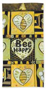 Bee Happy Beach Towel by Jen Norton