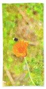 Bee My Flower Beach Towel