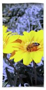 Bee On The Yellow Beach Towel