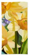 Bee Open By Marilyn Nolan-johnson Beach Towel