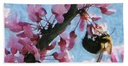 Bee To The Blossom Beach Towel