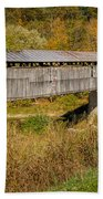 Beech Fork Or Mooresville Covered Bridge Beach Towel